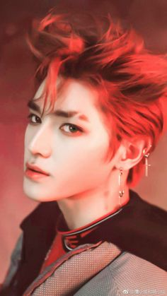 taeyong in the boss era. i died from his visuals, dancing, rapping- basically everything he did. Lee Taeyong, Jaehyun, Nct 127, Winwin, Nct Dream, Shinee, Rapper, Young K, Dyed Hair