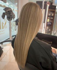long natural blonde balayage. sleek. Natural Blonde Balayage, Blonde Hair, Lvl Lashes, Keratin Complex, Hair And Beauty Salon, Natural Blondes, Best Brand, Stylists, Yellow Hair