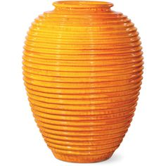 Seasonal Living Saturn Vase - Orange (141.115 RUB) ❤ liked on Polyvore featuring home, home decor, vases, european home decor, ceramic vase, orange home accessories, colored vases and outdoor home decor