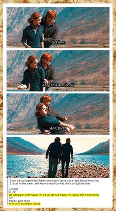He literally just taught her what she taught him in the first book. Wish they had kept this is the movie.
