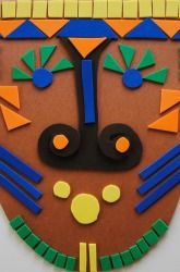 Second Grade Paper & Glue Crafts Activities: African Mosaic Mask There is a great African art section in the Yale Art Gallery, this would be a great way to bring the culture home.