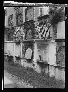 Wall tombs of the old St. Louis Cemetery, New Orleans
