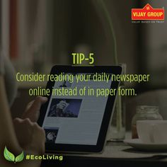 """They kill good trees to put out bad newspapers"" - James G. Watt. Go Green. Go Digital. #EcoLiving #GreenHomes #WorldEnvironmentDay"