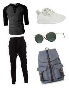 Cool outfit for teen aged to collage boys by eyan-richmond ❤ liked on Polyvore featuring Blood Brother, adidas Originals, Ray-Ban, Dune, mens fashion and menswear #TeenBoyFashion