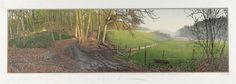 Afdaling, Arcadië, Rijk van Nijmegen. kleurenhoutsnede 37x109cm 2008. ©siemendijkstra2014.