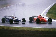 Jacques Villeneuve and Michael Schumacher, 1996