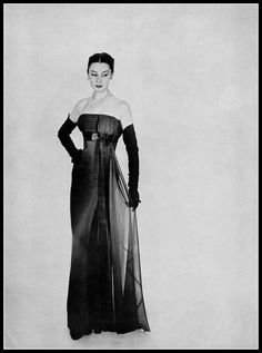 Model Patricia in Jacques Fath, photo by Georges Saad, 1953