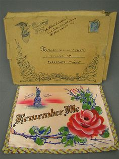 """Antique """"Remember ME"""" Coney Island NY Souvenir Patriot Forget Me Not, Coney Island, Art Projects, Antiques, Ebay, Souvenir, Antiquities, Antique, Old Stuff"""