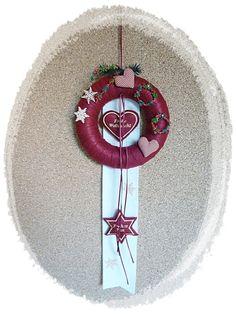 Türkranz weihnachtlich Adventskranz für die Türe von Die Geschenkidee auf DaWanda.com