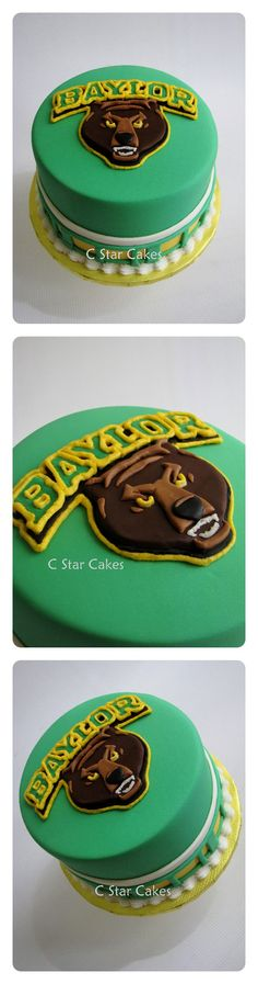 Baylor University cake by C Star Cakes