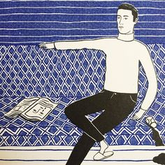 Detail of Riso print created for printed by , available soon in my shop. Its A Mans World, Graphic, Books To Read, I Shop, Folk, Illustration Art, Photo And Video, Create, Ideas