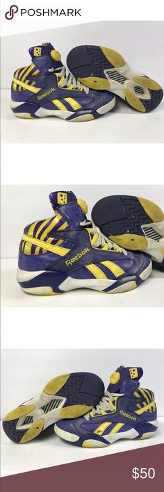 980c1b1a35e RARE 🔥 Reebok pump Shaq attaq LSU TIGERS Abeshoedels DONT BE AFRAID TO  OFFER BEST DEALS
