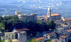 Castle and church - Monteroduni, Isernia, Molise Italy