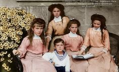 The Romanov children...love the Victorian era's clothes and hair!
