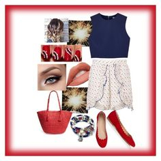 """""""Untitled #143"""" by snowflakeunique ❤ liked on Polyvore featuring Kate Spade, Alice McCall, Alice + Olivia, Chloé, Phase 3, redwhiteandblue and july4th"""