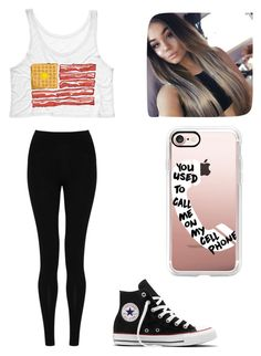 """Untitled #294"" by jessica-smith-xxv ❤ liked on Polyvore featuring M&S Collection, Casetify and Converse"