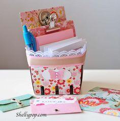 berry basket desk organizer