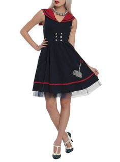 Marvel By Her Universe Thor Sailor Dress Pre-Order | Hot Topic