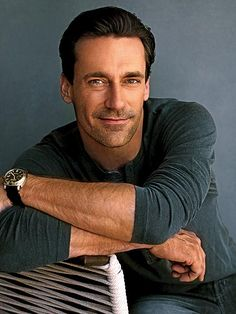 Jon Hamm...I really don't know what else to say other than he's a great actor and I totally have a crush on him!!!!
