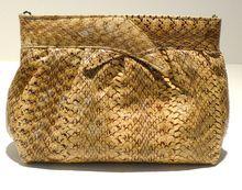Mary Ann Rosenfeld Cobra Skin Clutch - $130