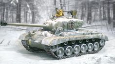 World War II Battle of the Bulge CS00711 U.S. Pershing Tank set - Made by The Collectors Showcase Military Miniatures and Models. Factory made, hand assembled, painted and boxed in a padded decorative box. Excellent gift for the enthusiast.