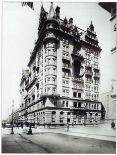 The Original Waldorf-Astoria Hotel, now the site of The Empire State Building, started as two hotels, the 13-story Waldorf Hotel was opened in 1893 and the other, the Astoria Hotel was opened four years later in 1897, and was four stories higher.
