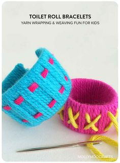 Turn toilet paper tubes into kid-friendly jewelry.