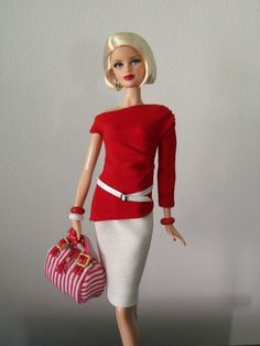 2011 Barbie Basics Model No. 01 - Collection Red ~ One of my favorite fashions on these.