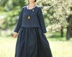 Loose Fitting Long Maxi Dress   Short Sleeved Women by deboy2000