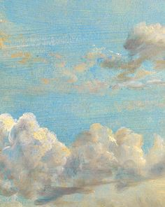 Cloud Study (detail) by John Constable.