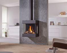 Freestanding Gas Fire, Modern, Contemporary Style