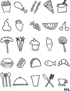 FREE Black And White Food Clipart
