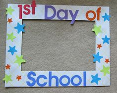 This would be cool to make a collage of each child's first day of school preschool-senior year.