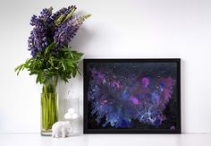 For sale: Acrylic original painting UNIVERSE, beautiful home decor, abstract painting