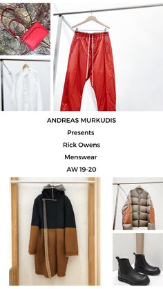The atmosphere in ANDREAS MURKUDIS captures a freedom and tranquility that sets it apart from the usual, fast-paced retail world. Rick Owens, Menswear, Digital, Pants, Fashion, Trouser Pants, Moda, Trousers, Fashion Styles
