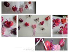 Bastle Dir aus gestrickten Herzen eine wunderbare Girlande, die total dekorativ ist. Auch super als Geschenk + als Mobile.Fang gleich an mit dem Stricken.