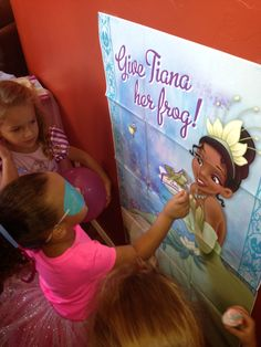 Princess version of pin the tail on the donkey!