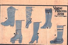 High Heel Stocking Pattern | Vintage Christmas Stockings Pattern Vogue 2239 by TheSewingGin