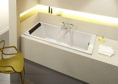 Diseño espacioso y confortable: Spazio o Presqu´île #bañeras #toledo #JacobDelafon