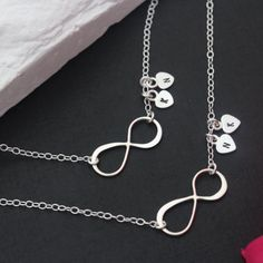 Sister Necklace  Mother daughter necklace set  INFINITY by MonyArt, $57.80