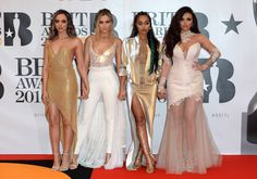 The Brit Awards Fierce: The Little Mix girls (L-R, Jade Thirlwall, Perrie Edwards, Leigh-Anne Pinnock and Jesy Nelson) were drop-dead gorgeous as they rocked a glimmering array of funky outfits Little Mix 2016, Little Mix Brits, Jesy Nelson, Crazy Outfits, Funky Outfits, Perrie Edwards, Kylie Minogue, Spice Girls, Rihanna