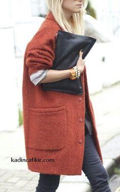 Yeni sezon kış modası oversized düşük omuzlu ateş kahverengi yün kadın kaban modeli | Kadınca Fikir - Kadınca Fikir Queer Fashion, 80s Fashion, Fashion 2020, Korean Fashion, Boho Fashion, Fashion Skirts, Classy Fashion, Fashion Hats, Fashion Vintage