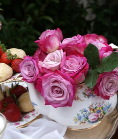 A Little Loveliness: A pretty teapot of roses.