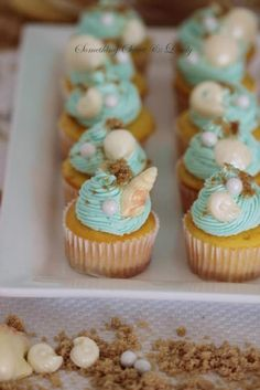 Luau Baby Shower  Ocean Them Cupcakes  Designer: Roxy Davis  Something Sweet & Lovely