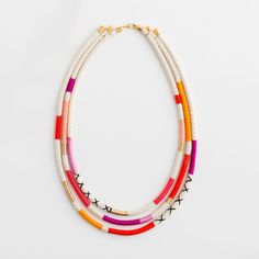You can make a statement-making wrapped necklace with this simple jewelry tutorial.