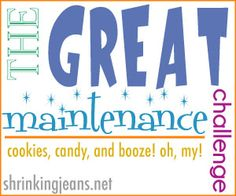 The Great Maintenance Challenge - Stay on track so you maintain, and don't gain, this holiday season! #weightloss #challenge #holidays shrinkingjeans.net