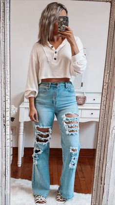 70s Outfits, Trendy Summer Outfits, Indie Outfits, Cute Casual Outfits, Teen Fashion Outfits, Chic Outfits, Fall Outfits, Outfit Winter, Summer Jean Outfits