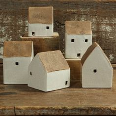 World Menagerie Brookdene Ceramic Cottages 5 Piece Sculpture Set Clay Houses, Ceramic Houses, Miniature Houses, Art Houses, Wood Houses, Diy Clay, Clay Crafts, Wood Crafts, Pottery Houses
