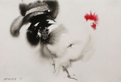2017 is The Year of Rooster. Millions across the world are preparing to celebrate Chinese New Year. To embrace the spirit of this year check out Endre Penovac world-known artist's amazing ink paintings. Watercolor Projects, Watercolor Animals, Watercolor And Ink, Watercolor Paintings, Ink Paintings, Watercolours, Rooster Tattoo, Tattoo Bird, Rooster Painting