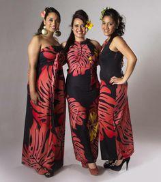 Kara's Designs Hawaiian Fashion, Tropical Fashion, Tropical Dress, Samoan Designs, Polynesian Designs, Island Wear, Island Outfit, Samoan Dress, Tahiti